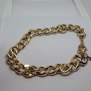 Aldo gold curb chain choker